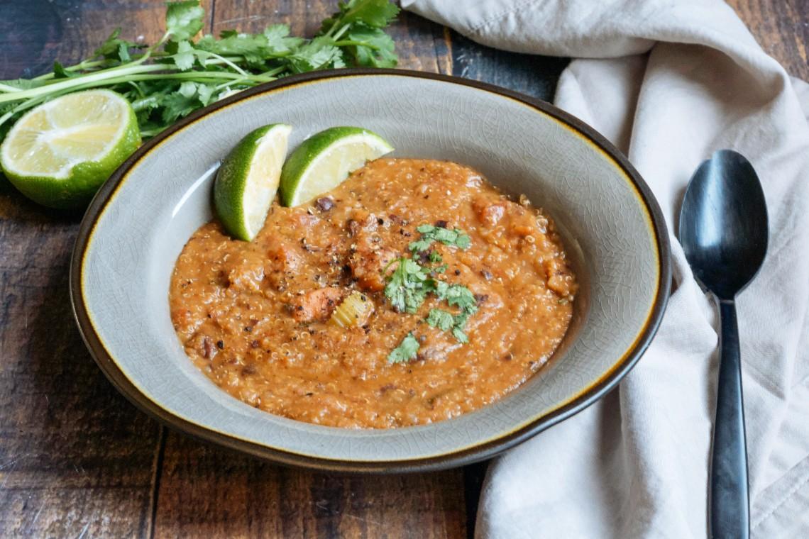 Pressure Cooker Vegetarian Mexican Quinoa Soup