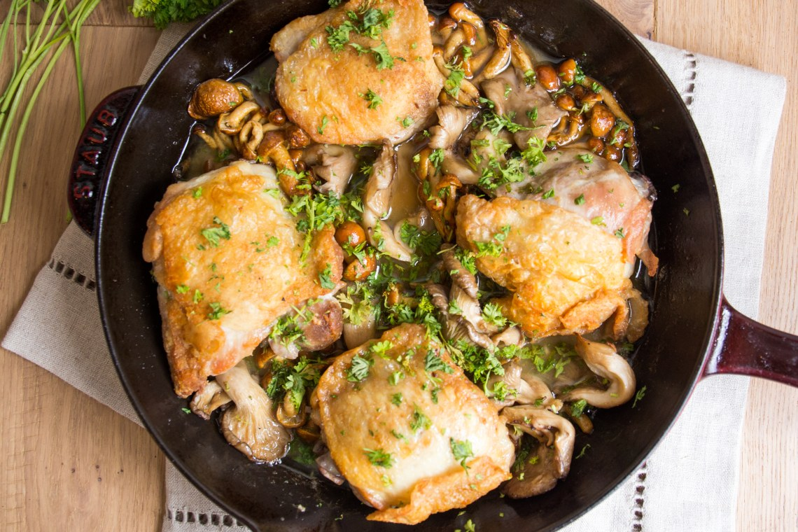 One-Pan Chicken & Mushrooms