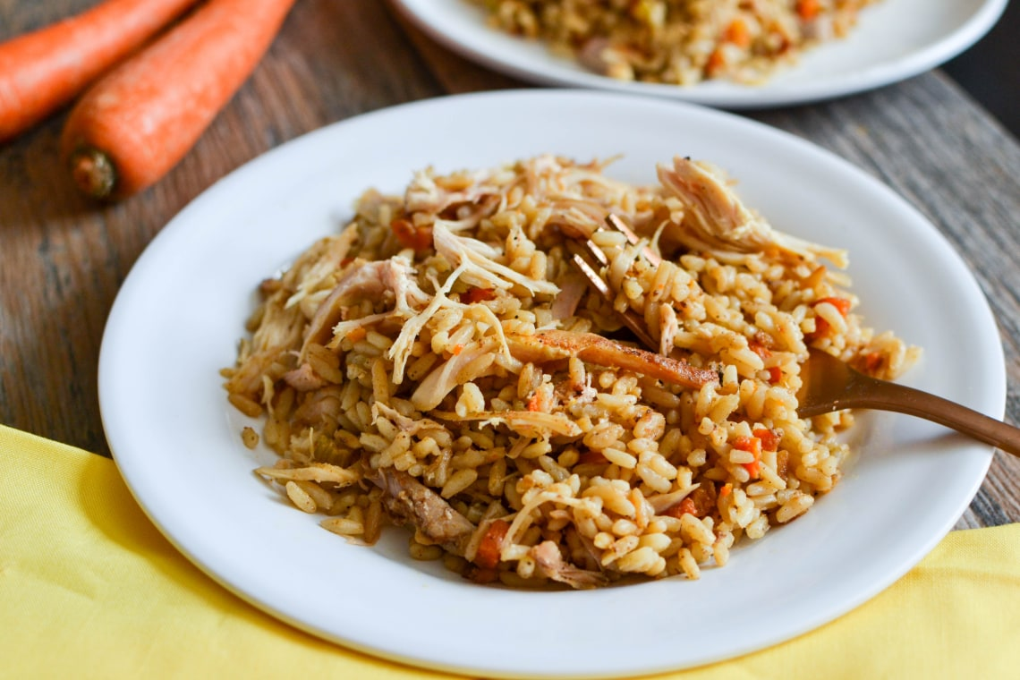 Pressure Cooker Shredded Chicken and Rice