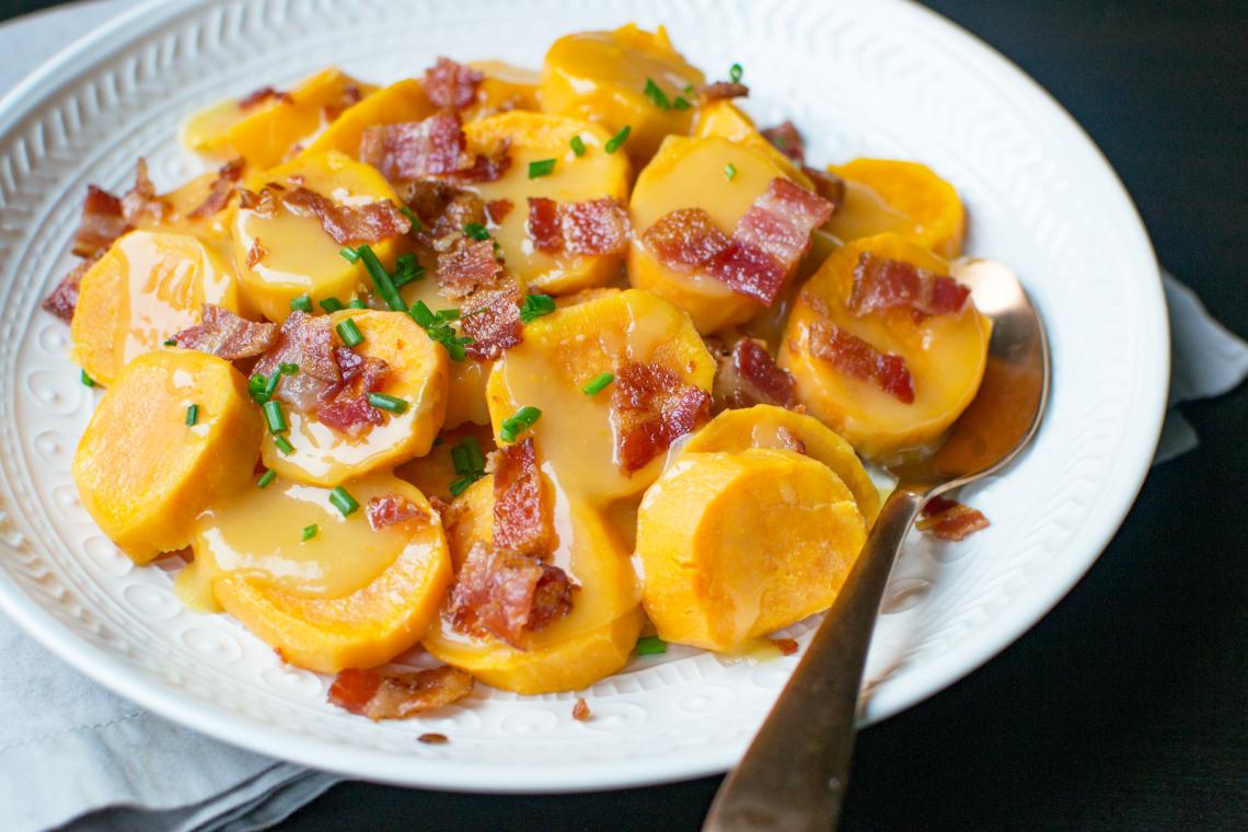 Pressure Cooker Orange-Maple Sweet Potatoes