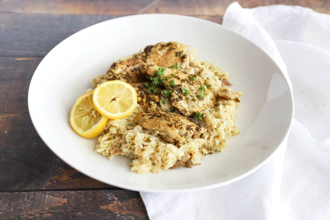 Pressure Cooker Lemon Chicken and Rice