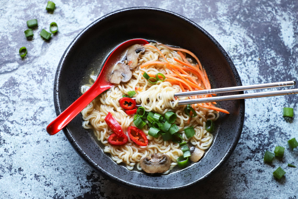 Pressure Cooker Ramen Noodle Soup