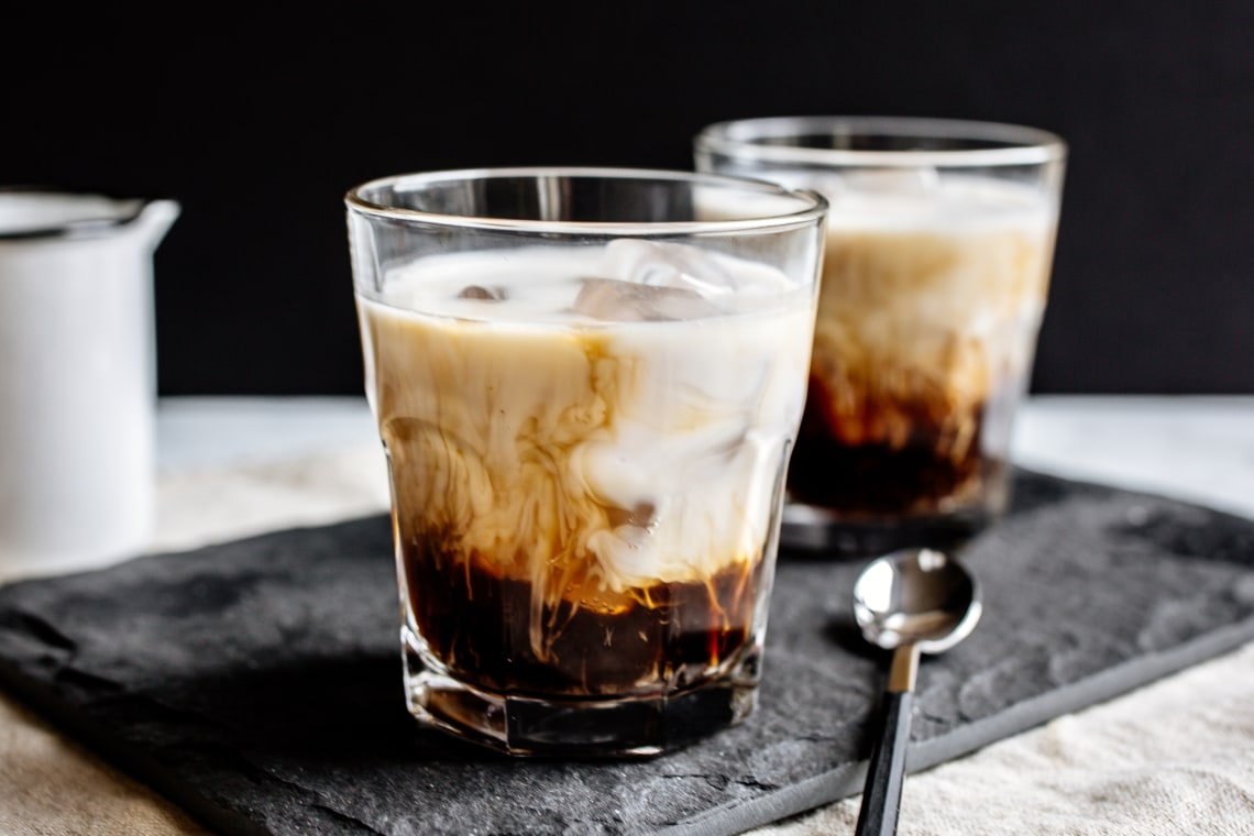 Vegan White Russian Cocktail