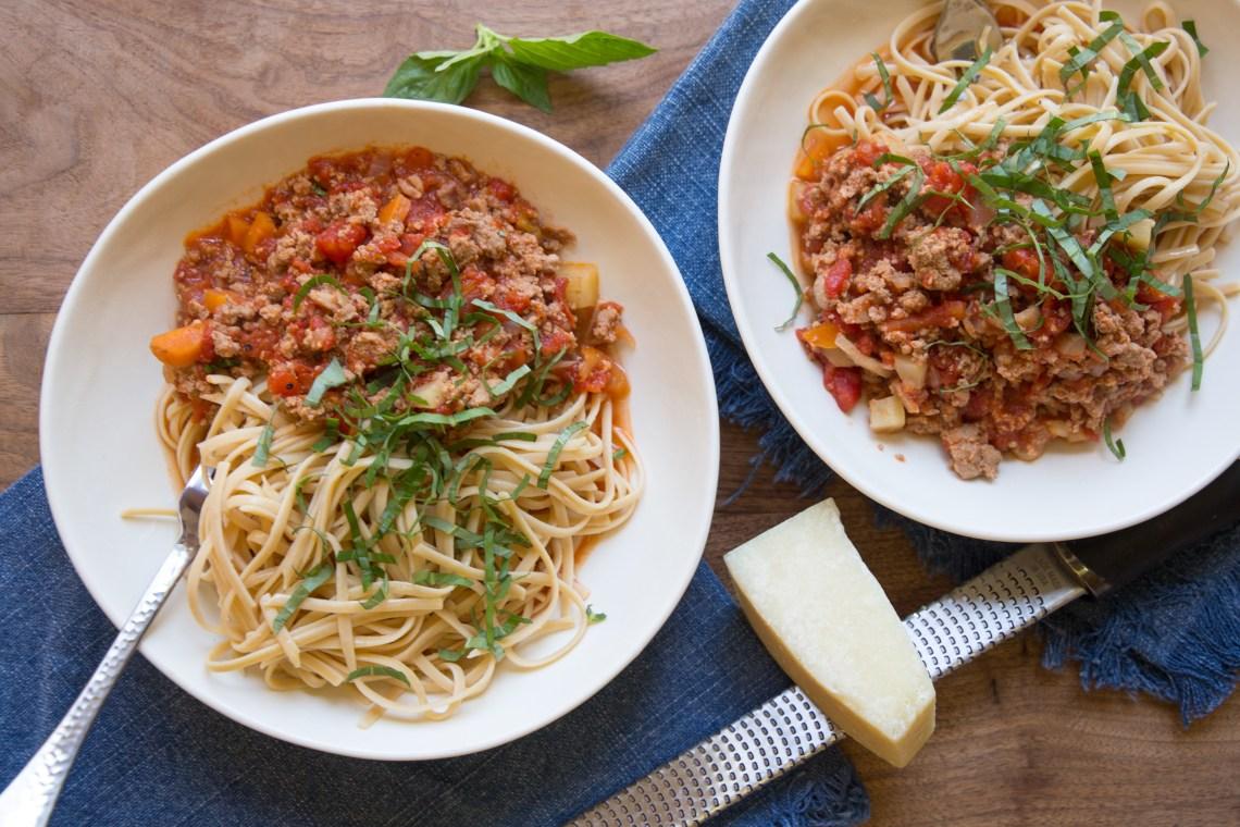 Pressure Cooker Bolognese Sauce, Inspired by Skinny Taste