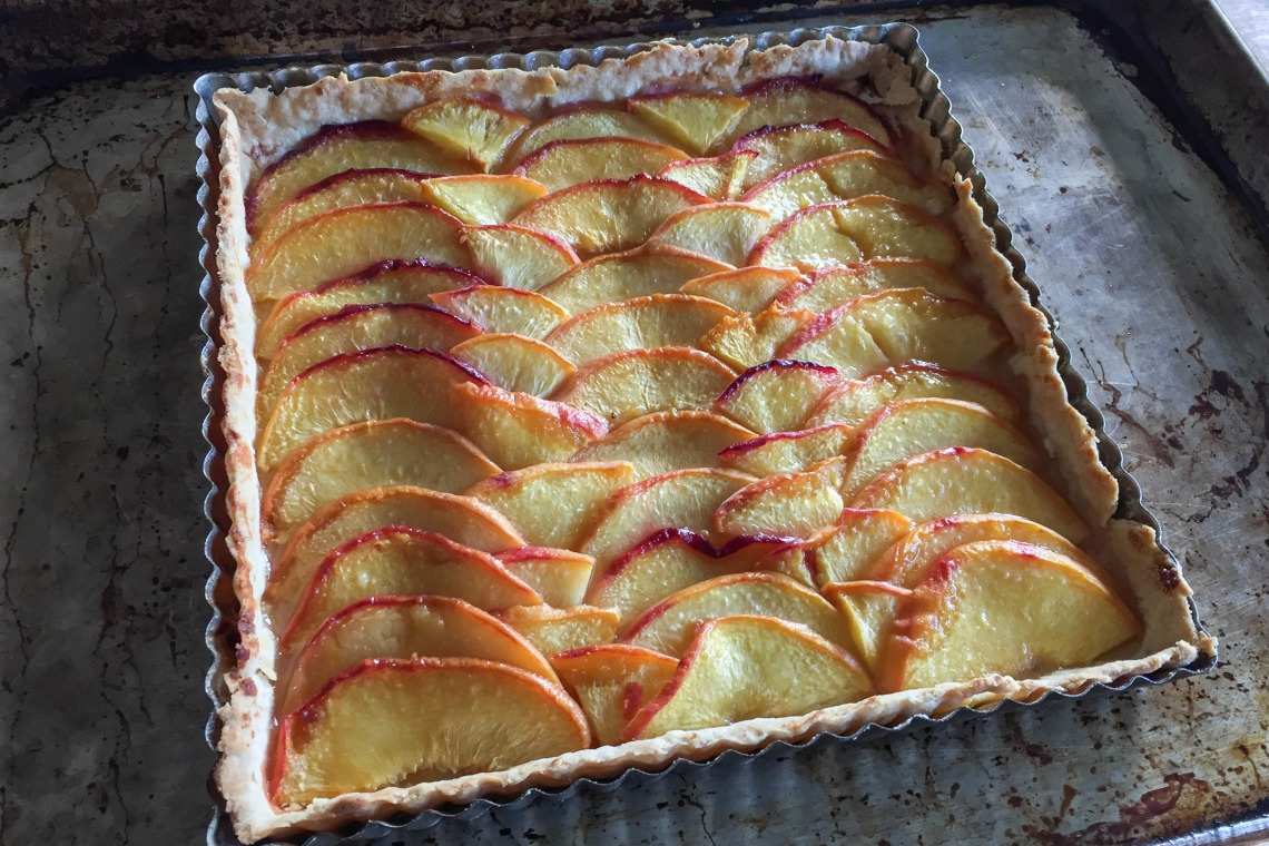 Simple Peach Tart