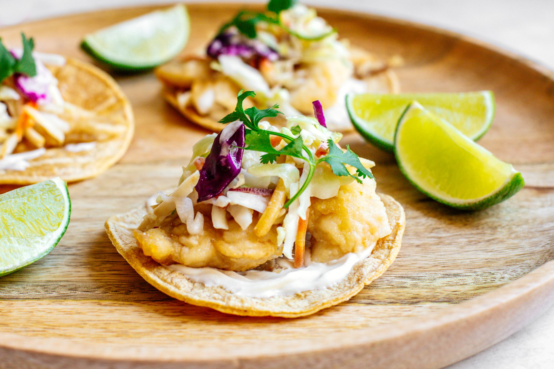 Pan-Fried Fish Tacos with Spicy Slaw