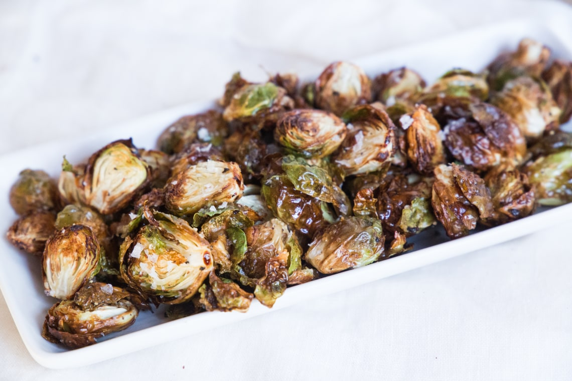 Air Fryer Crispy Brussels Sprouts