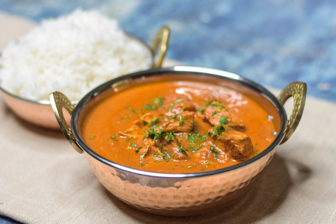 Pressure Cooker One-Pot Chicken Tikka Masala with Basmati Rice