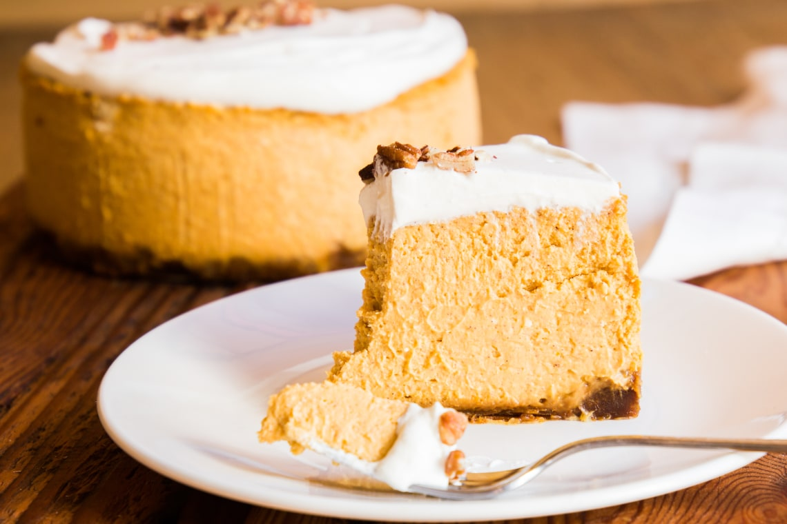 Pressure Cooker Pumpkin Pie Cheesecake