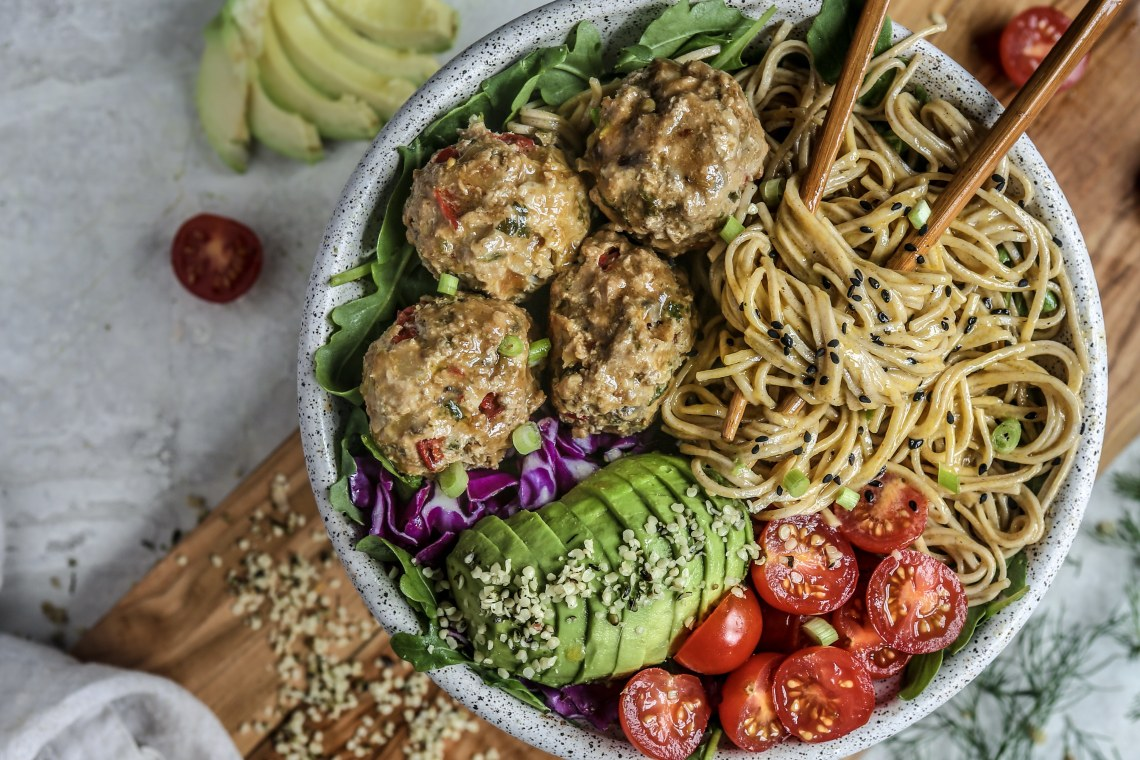 Pressure Cooker Asian Turkey Meatballs with Asian Spiced Soy Dipping Sauce