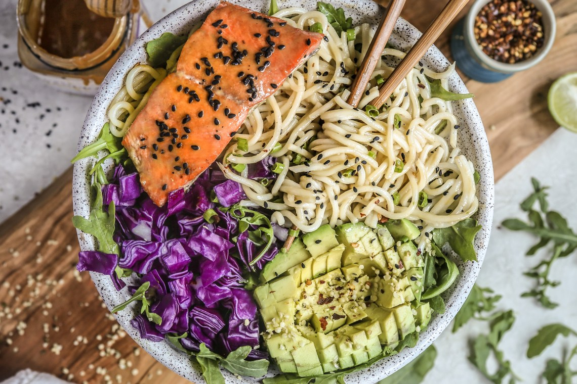 Pressure Cooker Tahini Honey Soy Ginger Salmon