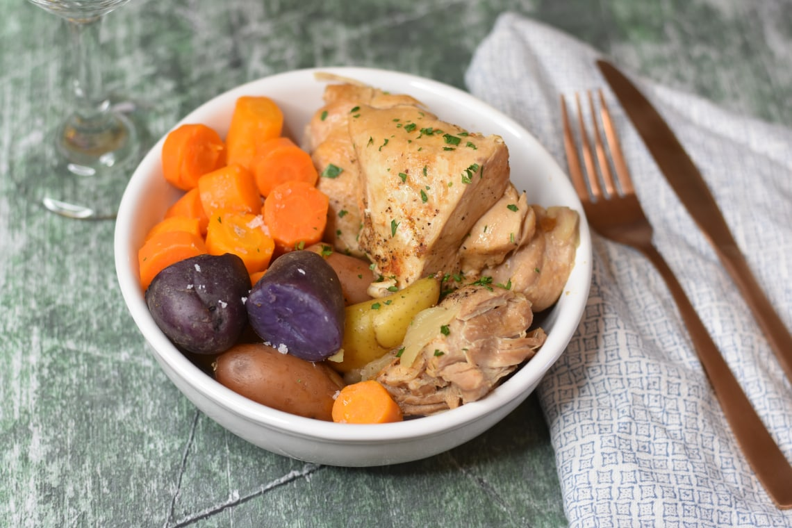 Pressure Cooker Chicken Dinner With Potatoes and Carrots