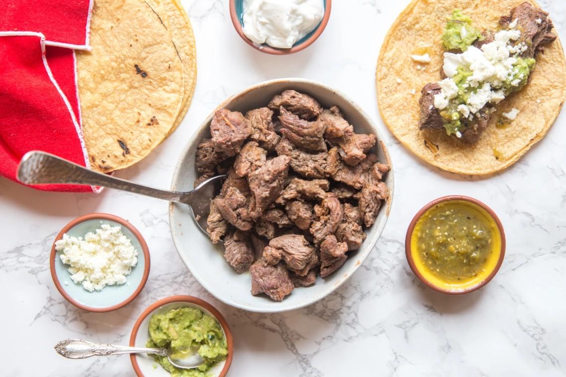 Pressure Cooker Carne Asada Tacos