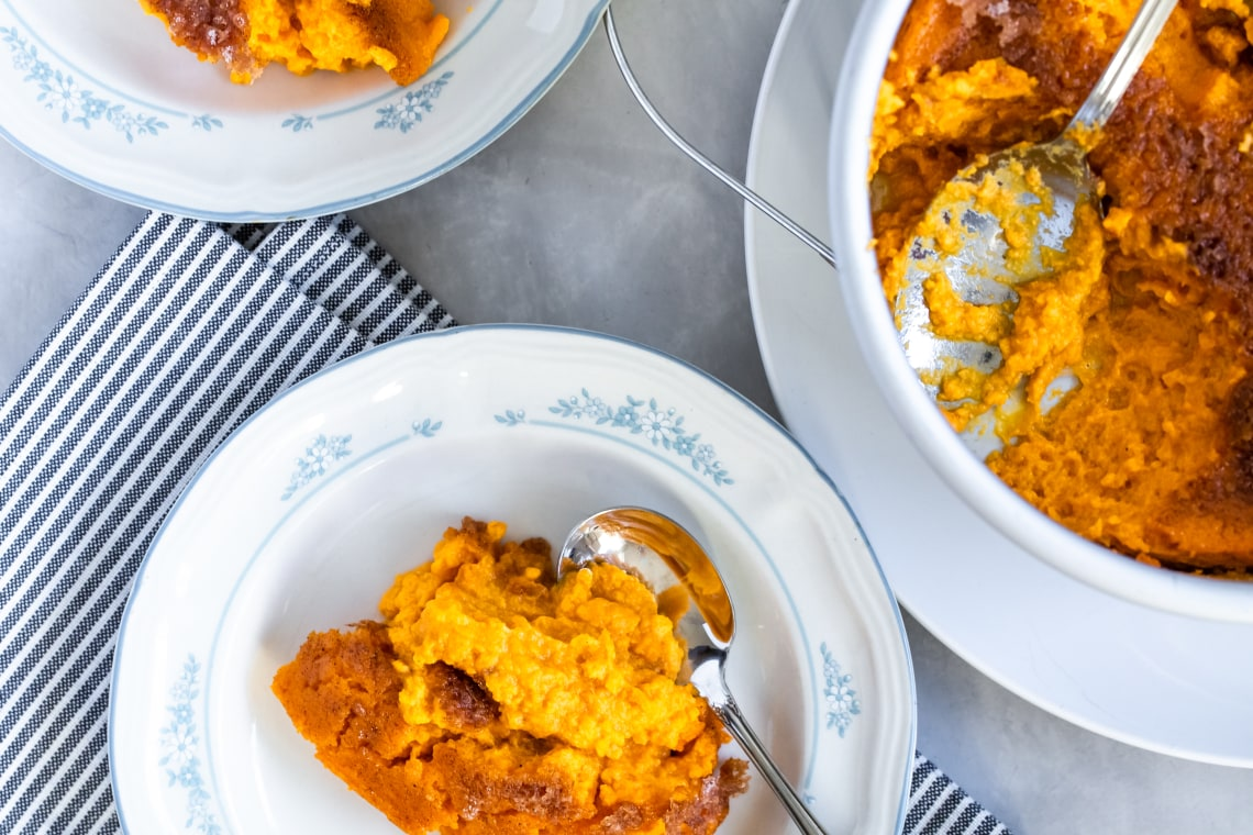 Pressure Cooker Sweet Potato Soufflé