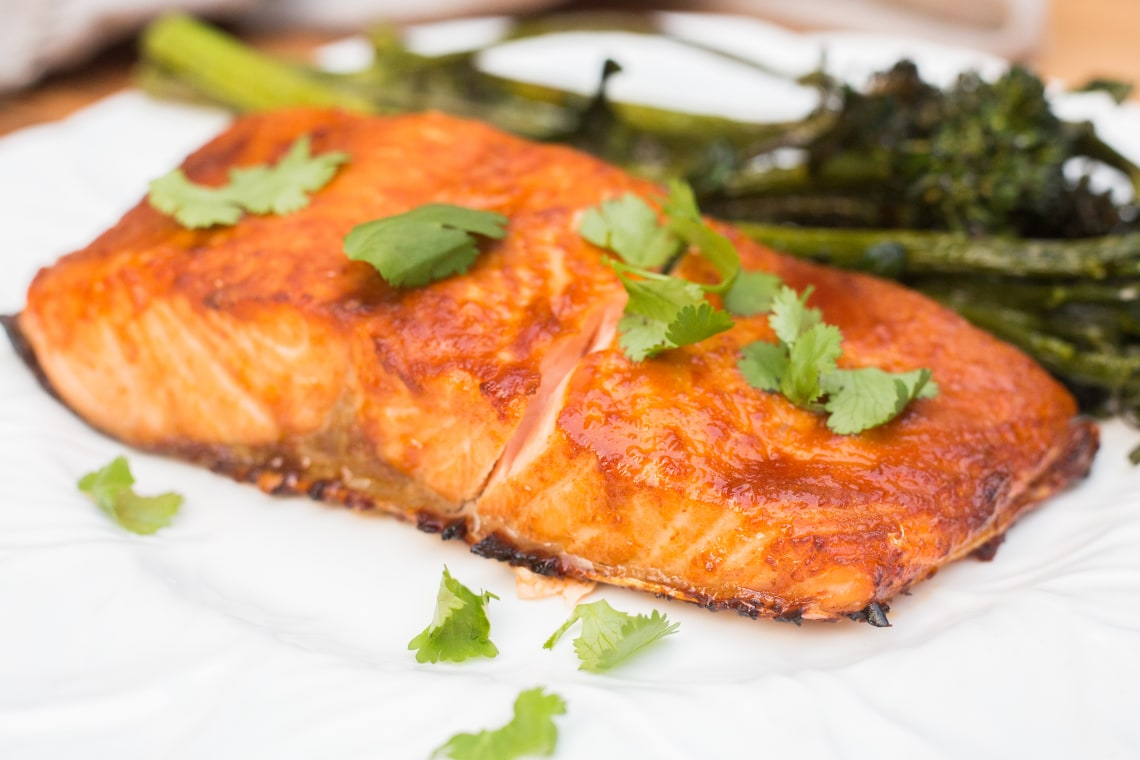Air Fryer Asian Salmon