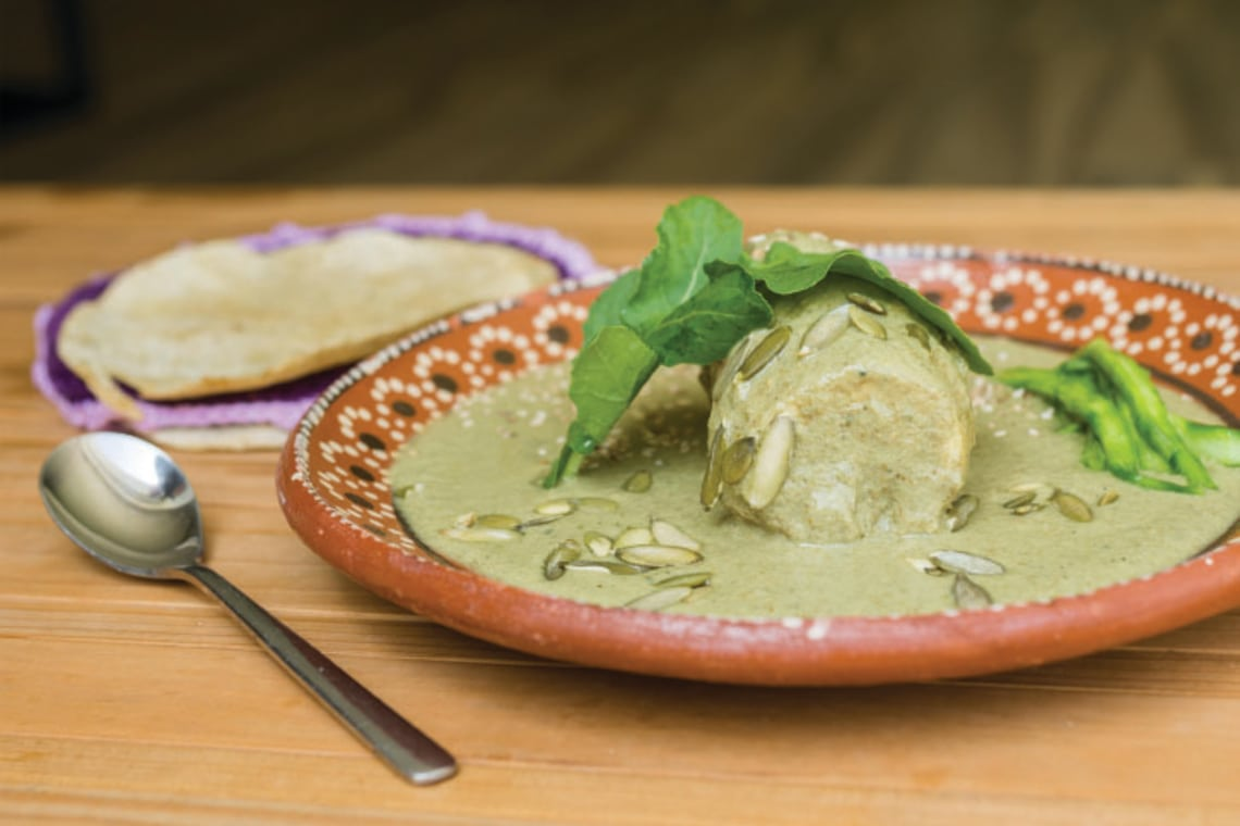 Pressure Cooker Authentic Green Mole with Chicken (Mole Verde)