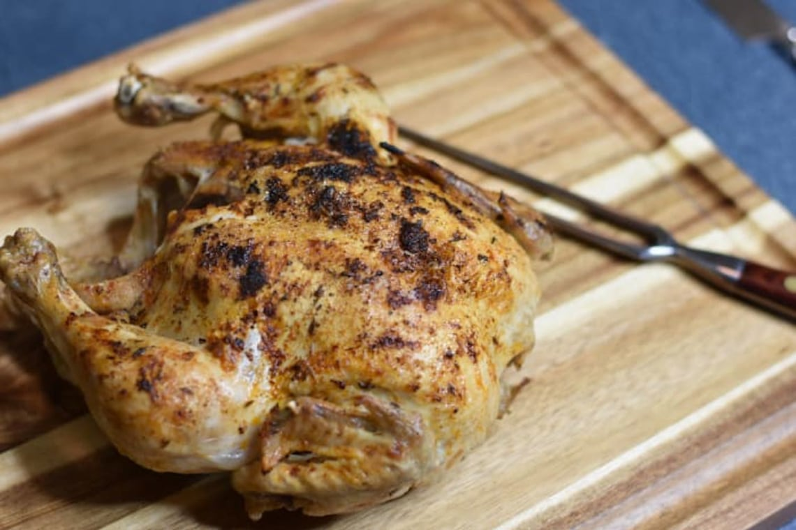 Pressure Cooker Faux-tisserie Chicken with CrispLid