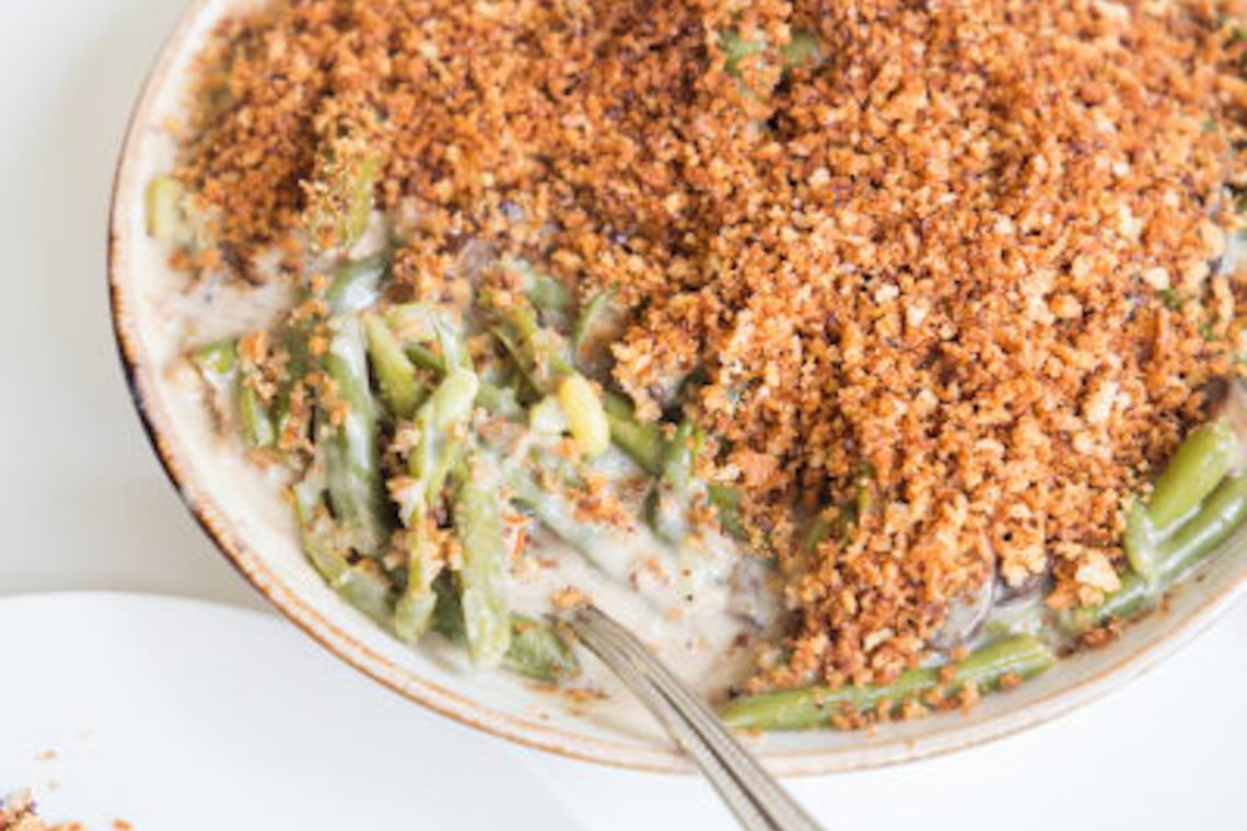 Pressure Cooker Green Bean Casserole with CrispLid