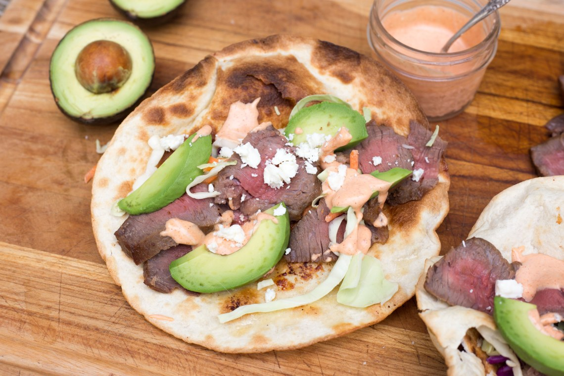 CrispLid Steak Tacos