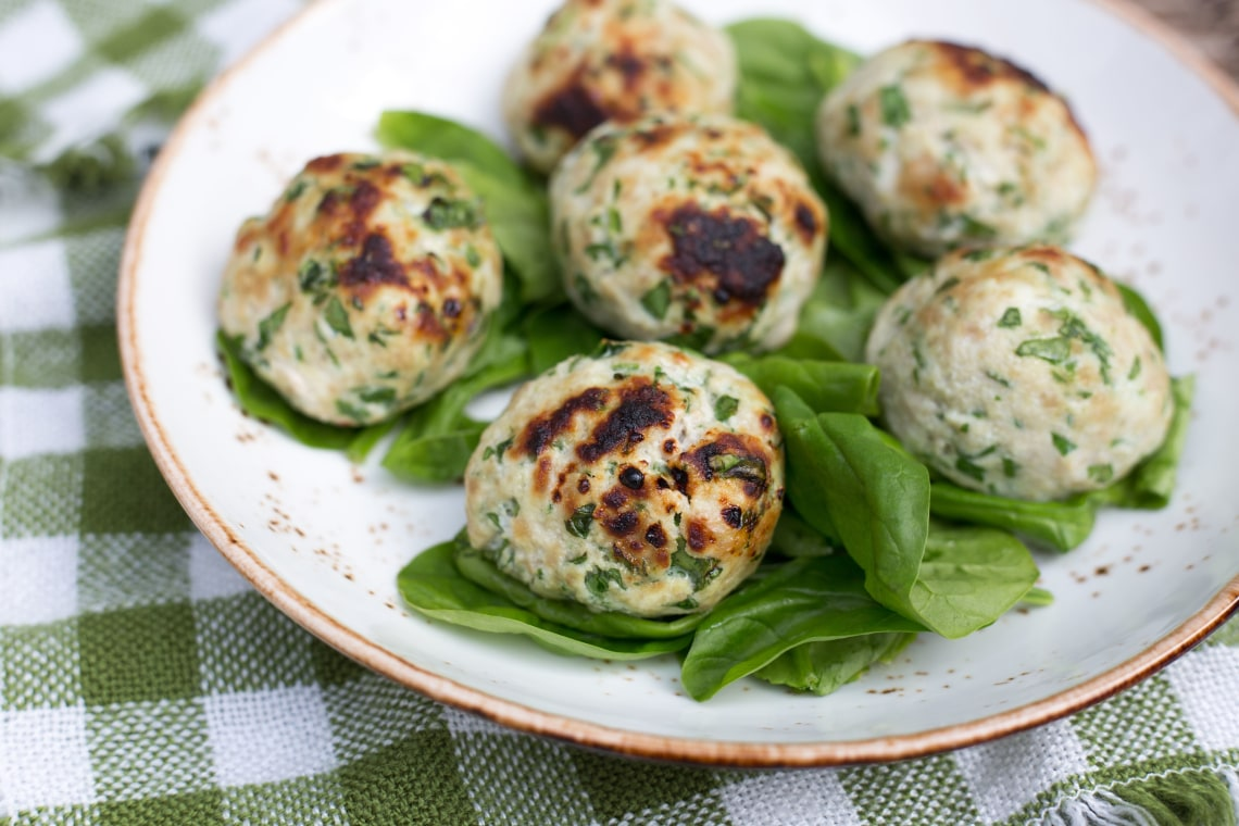 CrispLid Turkey and Spinach Meatballs