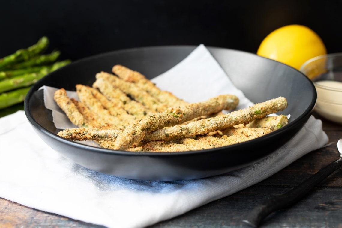 CrispLid Asparagus Fries