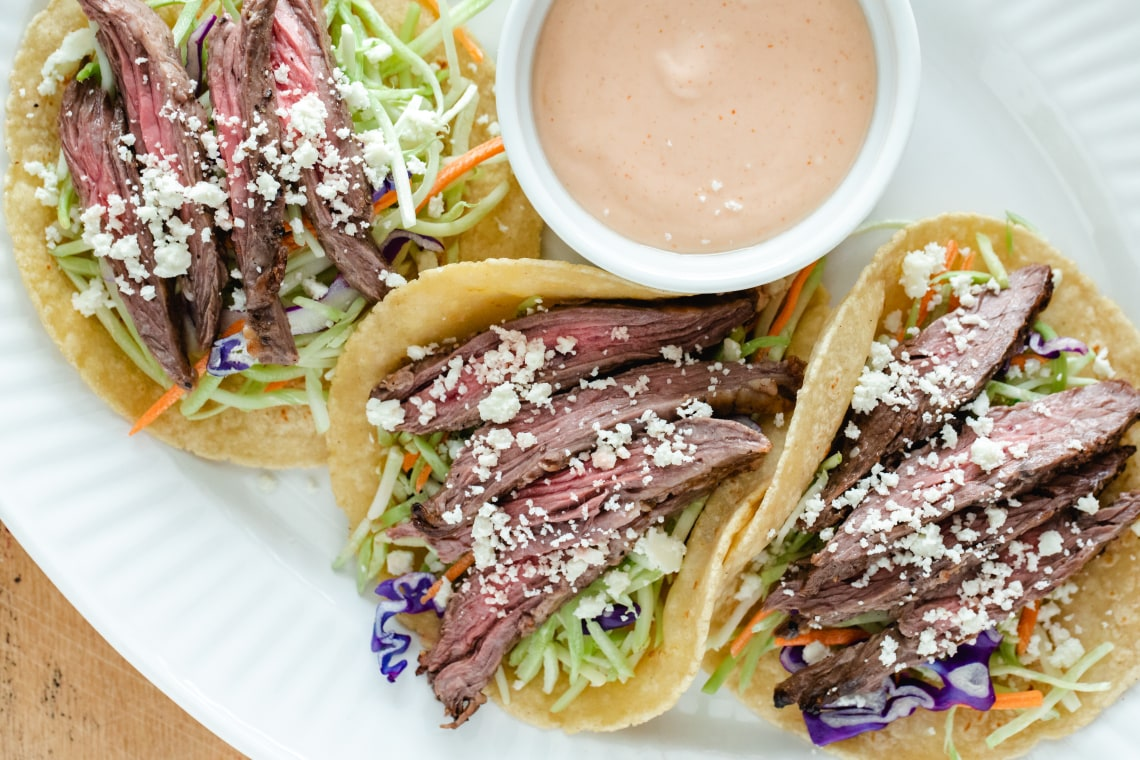 CrispLid Steak Tacos