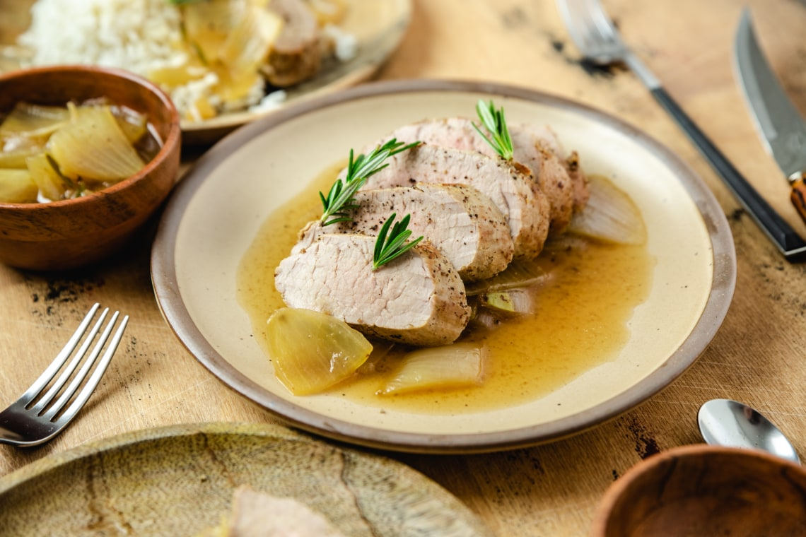 Pressure Cooker Filete de Cerdo (Chilean Pork Tenderloin)