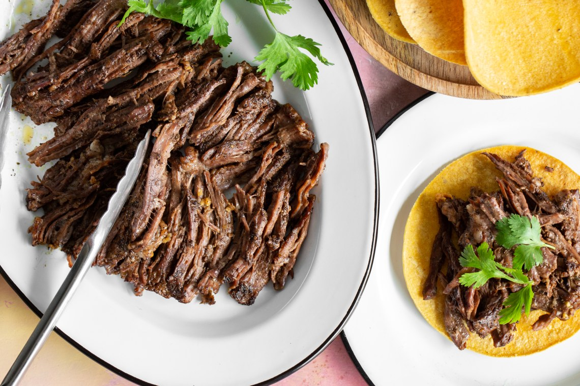 Pressure Cooker Shredded Skirt Steak