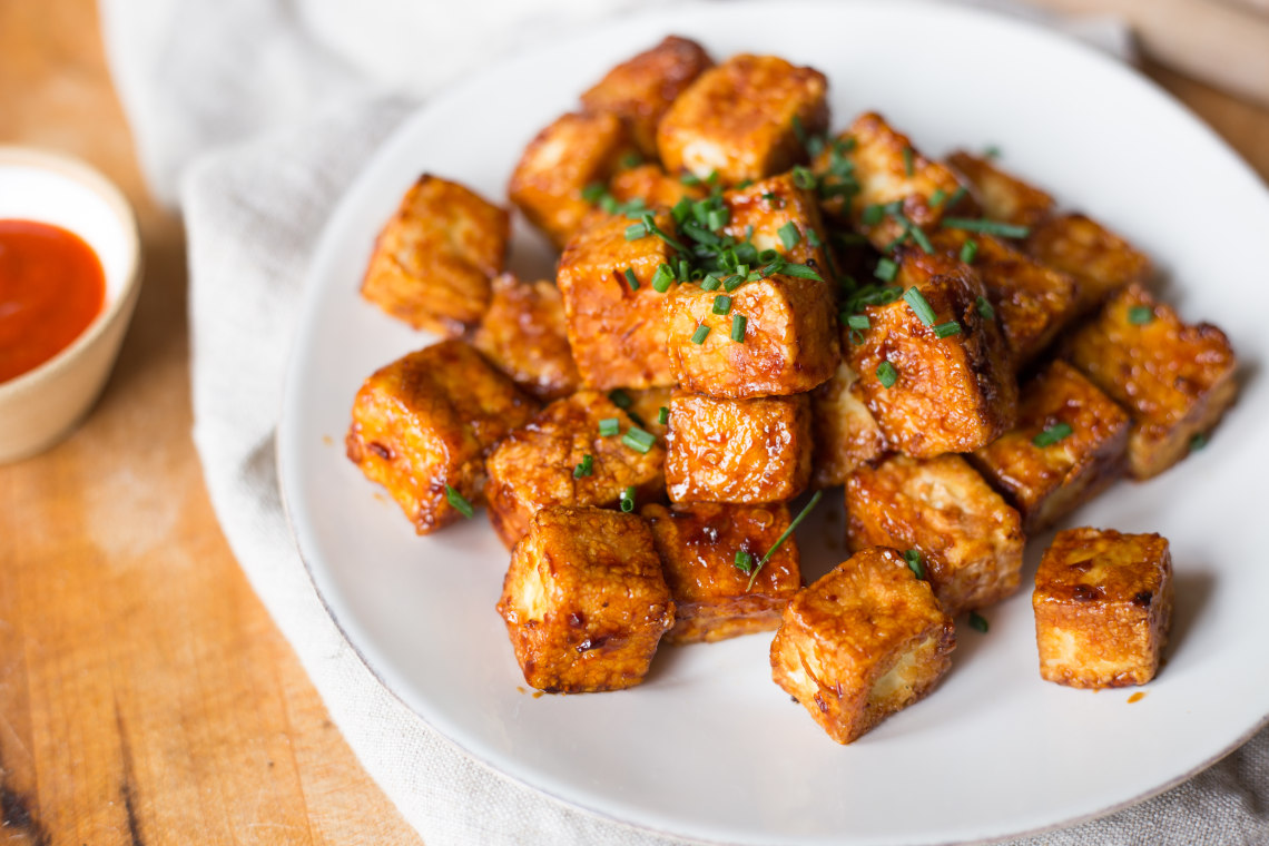 CrispLid Crispy Honey Soy-Glazed Tofu