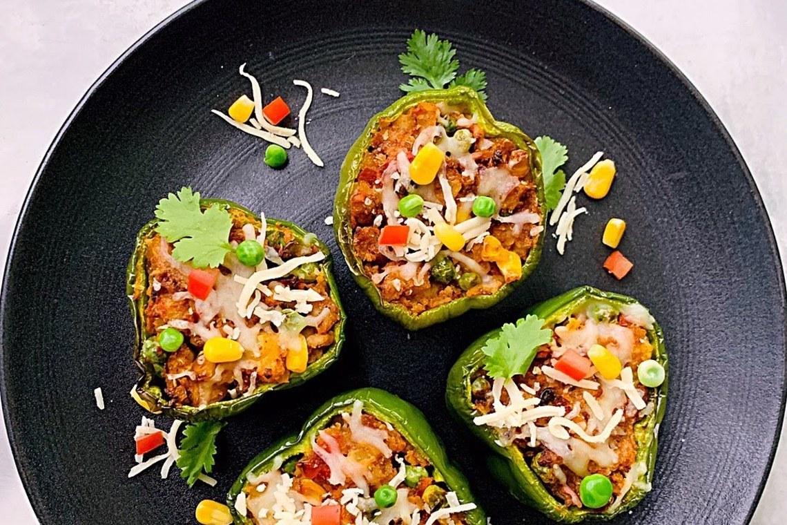 CrispLid Bharwaan Shimla Mirch (Stuffed Peppers)