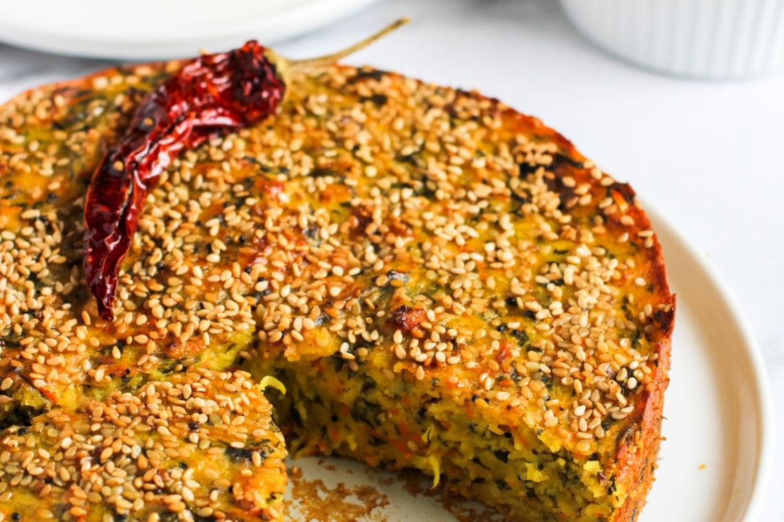 CrispLid Handvo (Spicy Chickpea Cake)