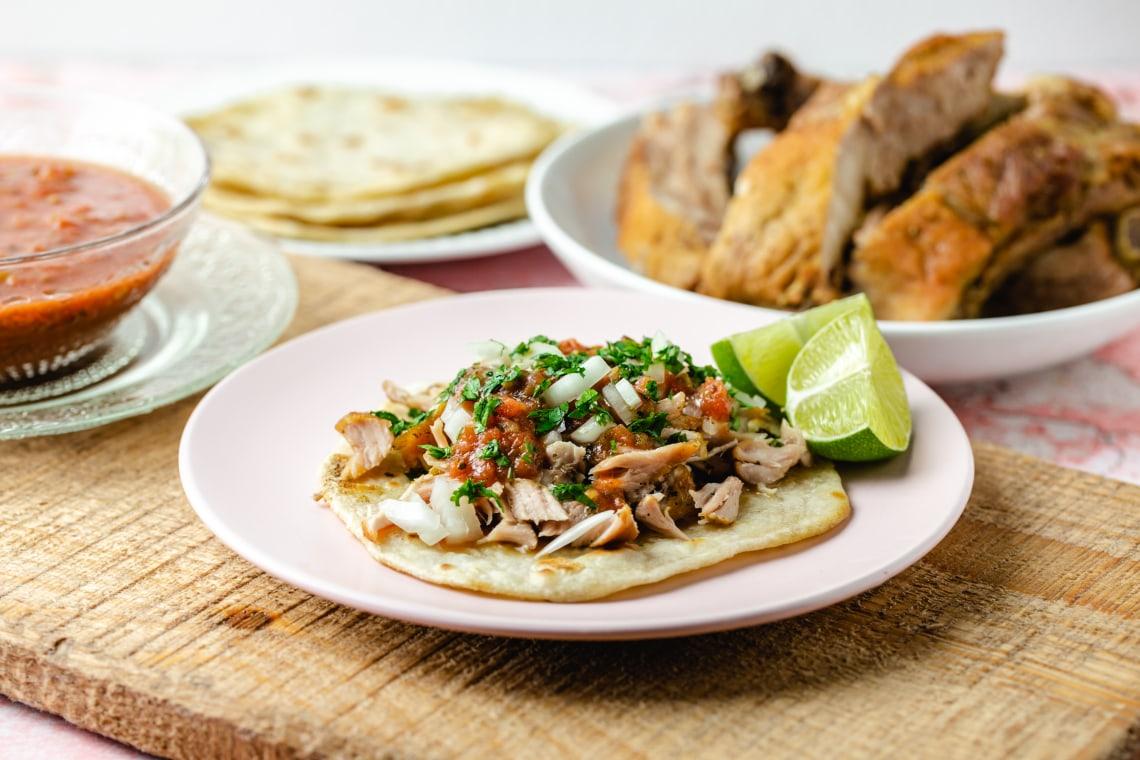 Pressure Cooker Carnitas (Pork Rib Tacos)