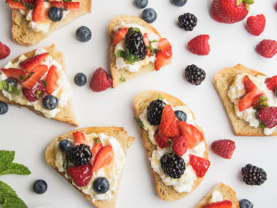 Image forRicotta Cheese and Mixed Berries on Toast