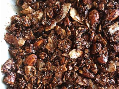 Image forChocolate Coconut Granola Clusters