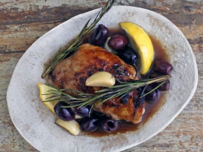 Image forSweet Balsamic Chicken with Lemon and Olives