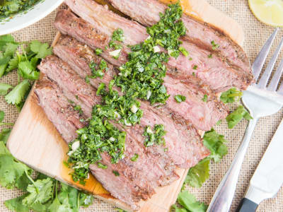 Image forFlank Steak with Chimichurri Sauce