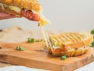 Image forUltimate Grilled Cheese and Roasted Tomato Sandwich