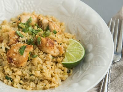 Image forCilantro-Lime Chicken with Cauliflower Rice
