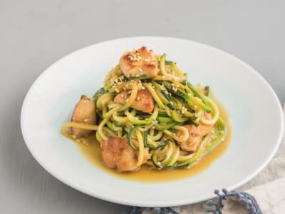 Image forZucchini Noodles with Soy-Ginger Chicken