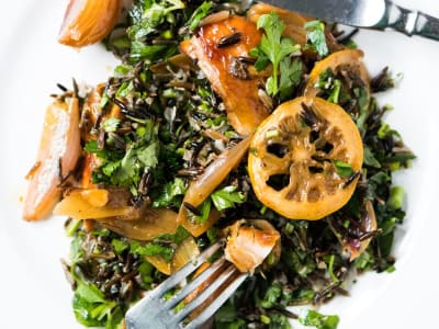 Image forRoasted Chicken with Wild Rice Salad