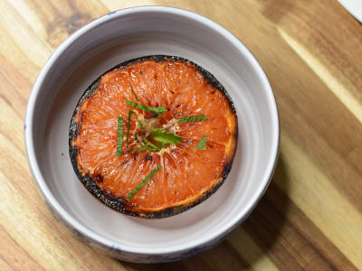 Image forCaramelized Honeyed Grapefruit with Mint