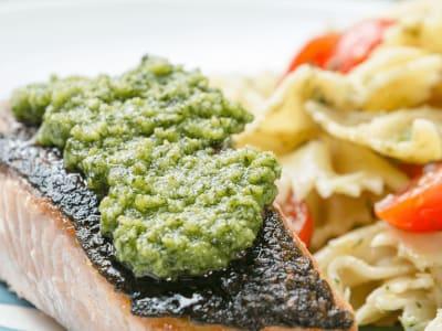 Image forCrispy-Skin Salmon with Pesto