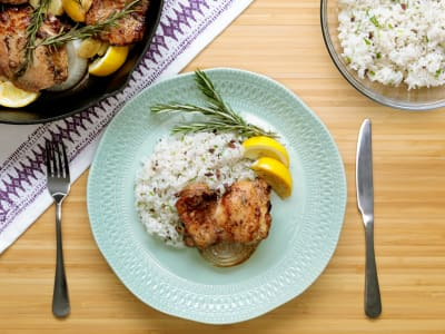 Image forSweet Balsamic Chicken and Olive Rice