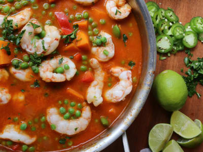 Image forShrimp and Sweet Potato Red Curry