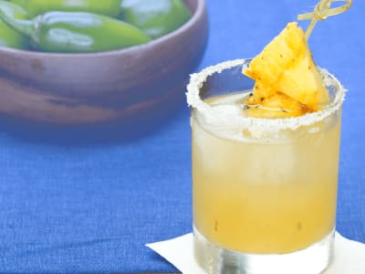 Image forGrilled Jalapeno-Pineapple Margarita