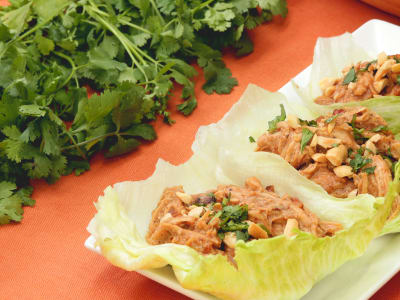 Image forMeal Prep: Pressure Cooker Thai Chicken Lettuce Cups