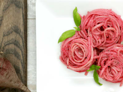 Image forBeet Pesto Pasta
