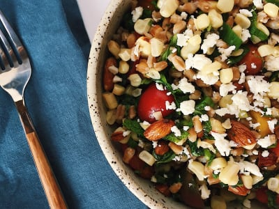 Image forLate Summer Farro Salad