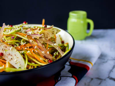 Image for Spiralized Zucchini and Cucumber Salad with Asian Dressing