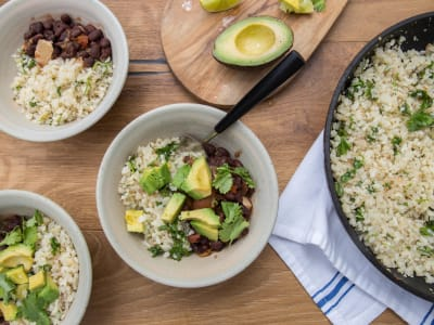 Image forCauliflower Rice and Beans